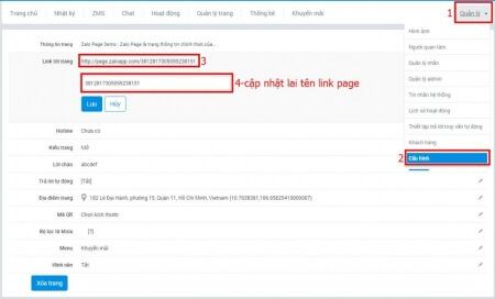 Hướng dẫn cách tạo đường dẫn (link) cho Official Account - image laylinkpage on http://atpsoftware.vn