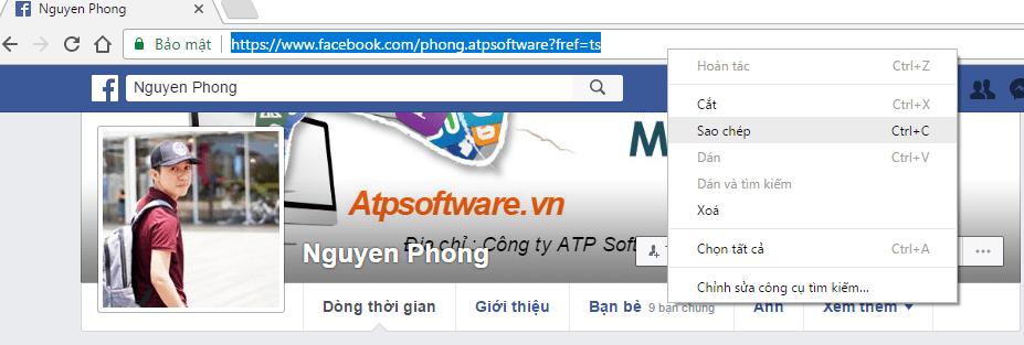 Hướng dẫn cách lấy UID trên Facebook 2017 - image quet-profile on https://atpsoftware.vn