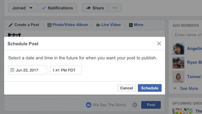 lich post - 5 cập nhật mới nhất cho Group Facebook