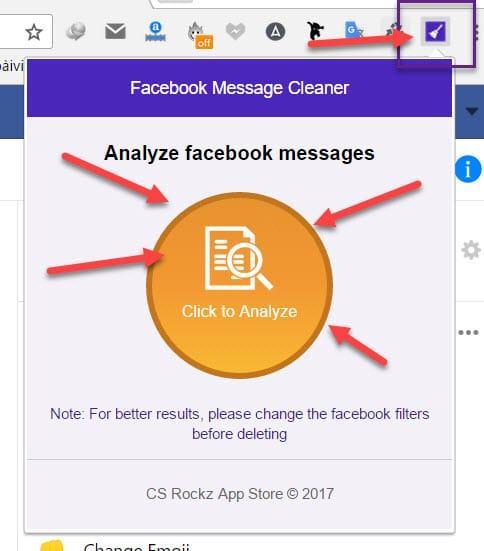 Xóa toàn bộ tin nhắn Facebook