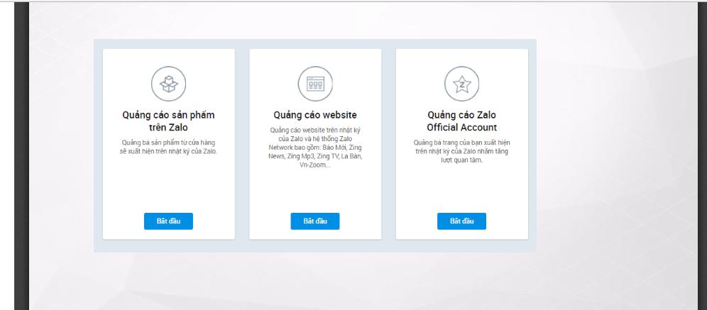 Hiện tại Zalo có 3 hình thức quảng cáo chính :