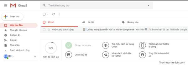 Giao diện hòm thư Gmail