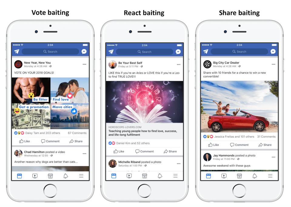 Facebook cập nhật :  Giảm hiển thị cực mạnh với các bài viết câu tương tác ! - image combo1 on https://atpsoftware.vn