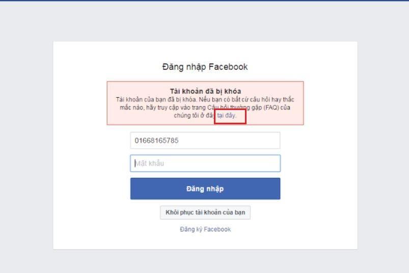 a2 - Mở khóa tài khoản Facebook FAQ mới nhất 2018