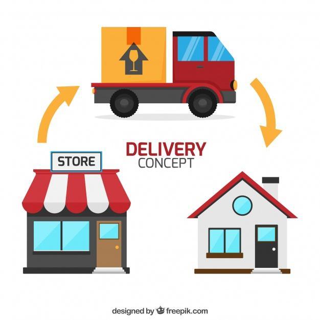 TỔNG HỢP CÁC ĐƠN VỊ VẬN CHUYỂN UY TÍN, CHẤT LƯỢNG TẠI VIỆT NAM - image delivery-concept-with-house-shop-and-truck_23-2147677040 on https://atpsoftware.vn