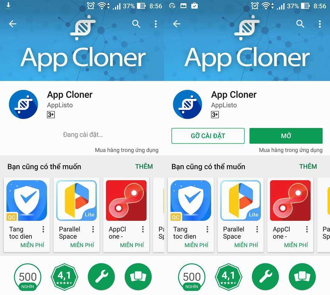 Kết quả hình ảnh cho App Cloner ch play