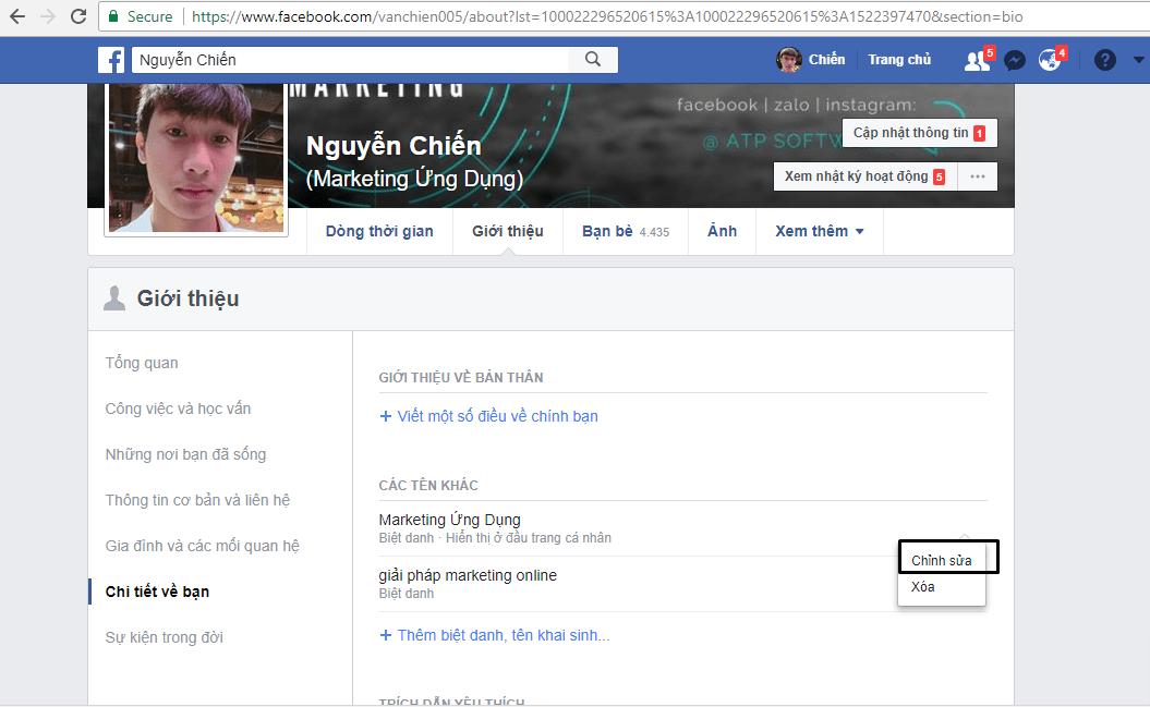 Hướng dẫn đổi tên tài khoản & thêm tên phụ trên Facebook - image 10 on https://atpsoftware.vn