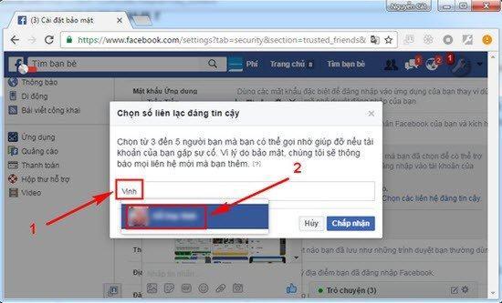 28 - Hướng dẫn thêm bạn bè tin cậy vào tài khoản facebook cá nhân