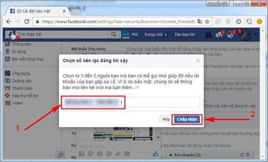 29 - Hướng dẫn thêm bạn bè tin cậy vào tài khoản facebook cá nhân