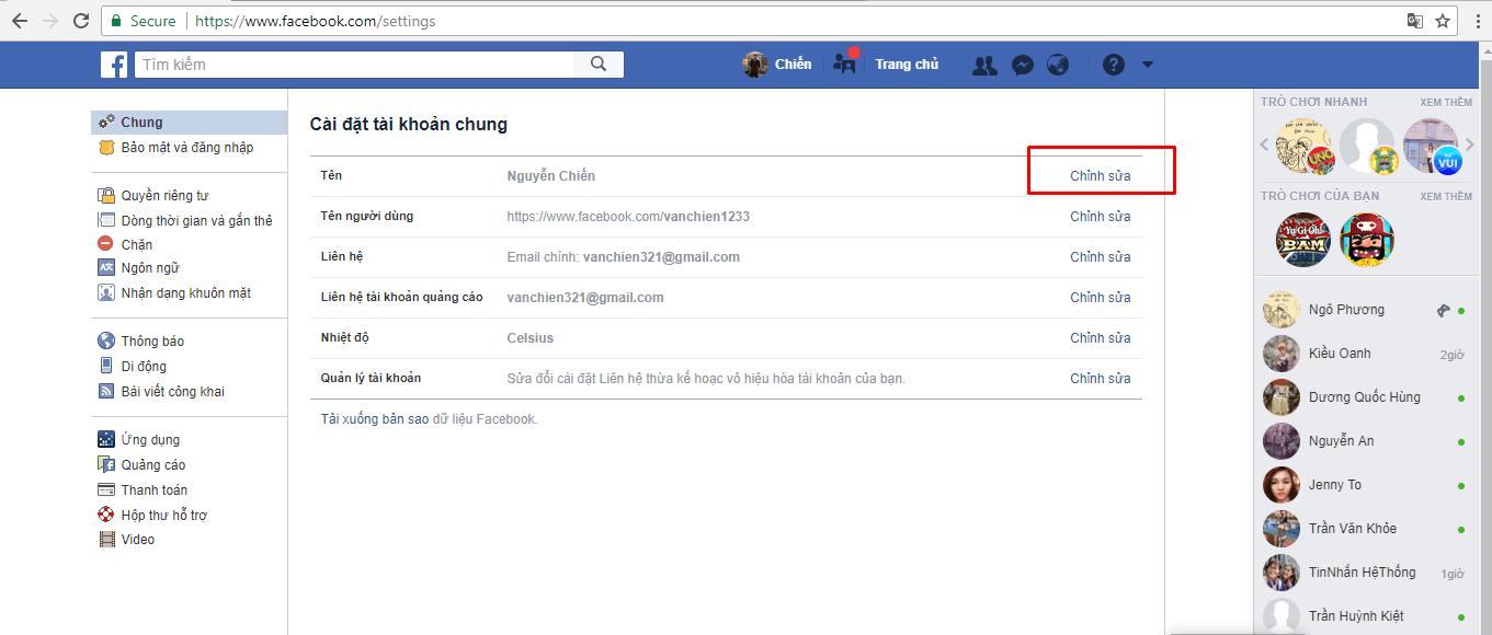 Hướng dẫn đổi tên tài khoản & thêm tên phụ trên Facebook - image 6-1 on https://atpsoftware.vn