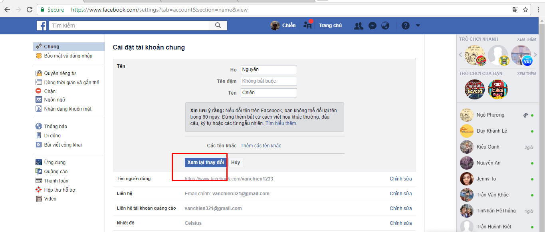 Hướng dẫn đổi tên tài khoản & thêm tên phụ trên Facebook - image 7 on https://atpsoftware.vn