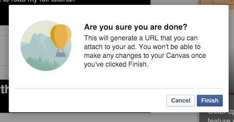 tao facebook canvas 19 - Hướng dẫn tạo post quảng cáo Facebook Canvas