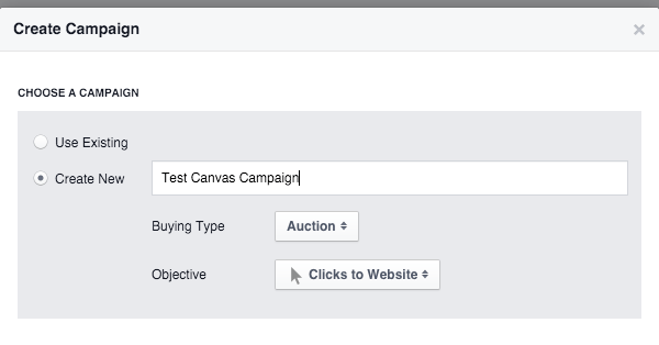 tao facebook canvas 20 - Hướng dẫn tạo post quảng cáo Facebook Canvas
