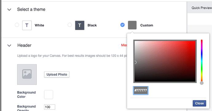 tao facebook canvas 8 - Hướng dẫn tạo post quảng cáo Facebook Canvas