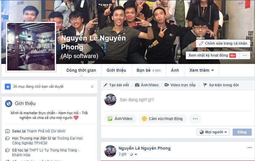 thong tin ca nhan seo facebook - Cách tạo uy tín bán hàng online trên Facebook cá nhân