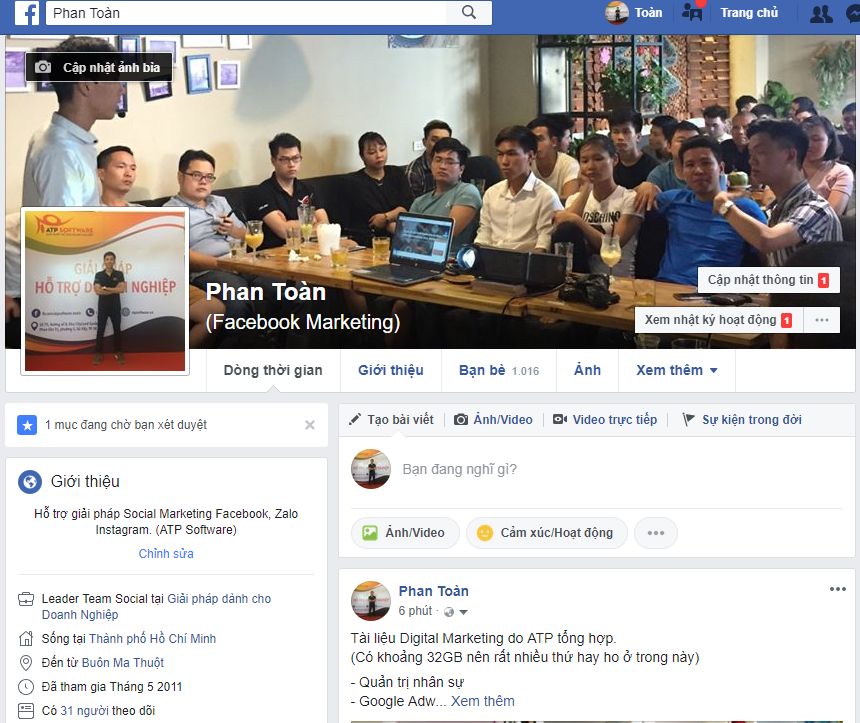 Capture - Case study xây profile Facebook trong 3 ngày