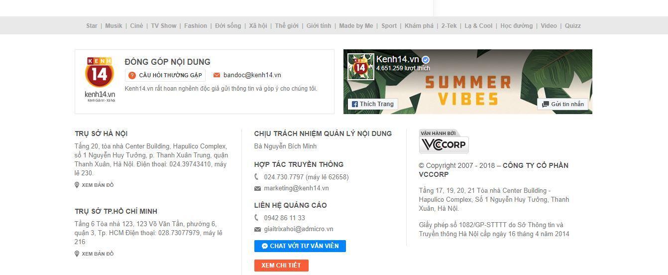chan trang website kenh14 co chua link fanpage facebook cua kenh14 - Cách tìm kiếm đối thủ cạnh tranh trên Internet nhanh chóng