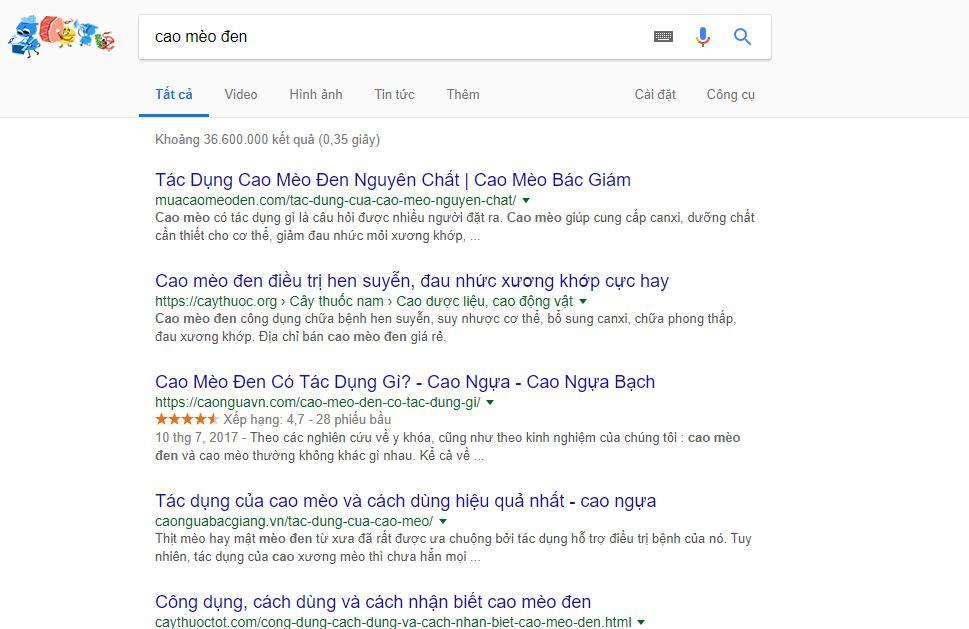 tim kiem tu khoa tren google 2 - Cách tìm kiếm đối thủ cạnh tranh trên Internet nhanh chóng