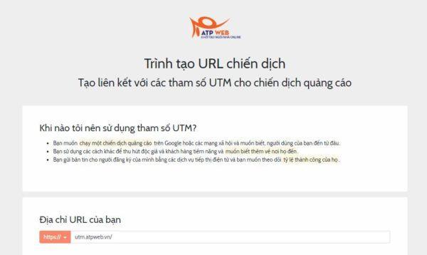 Cach Tao Ma Utm Tracking Mien Phi Atpweb