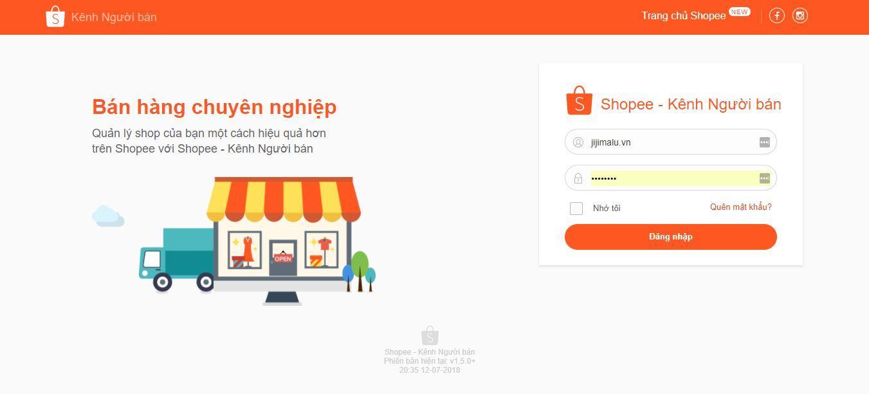 dang nhap shopee kenh nguoi ban - Hướng dẫn chạy quảng cáo bán hàng trên Shopee 2018