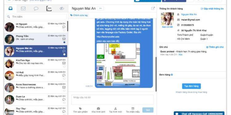 harapage quan ly tin nhan page 750x375 - Trọn bộ phần mềm marketing Facebook hỗ trợ bán hàng online của ATP Software