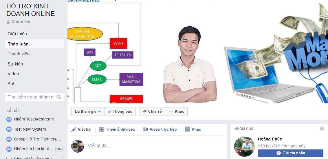 ho tro kinh doanh online - Hướng dẫn Affiliate ATP Software kiếm tiền online trên Facebook Group