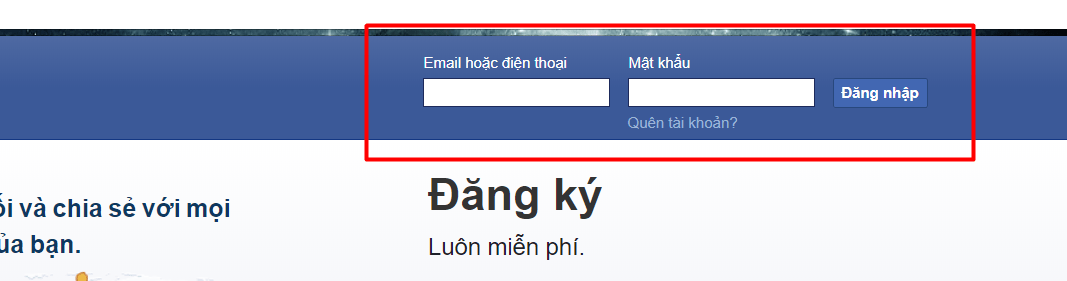 ng nhập vào Facebook - Hướng dẫn tạo tài khoản & đăng nhập trên các MXH Facebook, Instagram, Zalo, Google plus