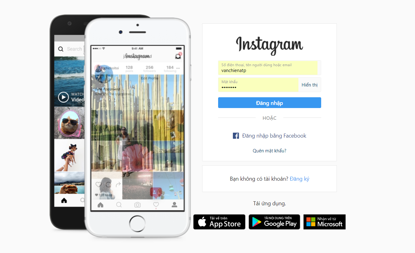 ng nhập vào instagram - Hướng dẫn tạo tài khoản & đăng nhập trên các MXH Facebook, Instagram, Zalo, Google plus