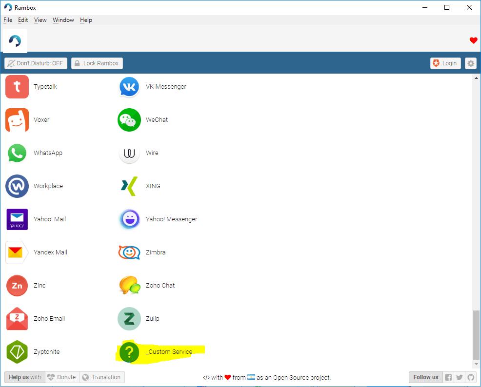 custom 1 - Rambox - Công cụ quản lý tin nhắn trên mạng xã hội