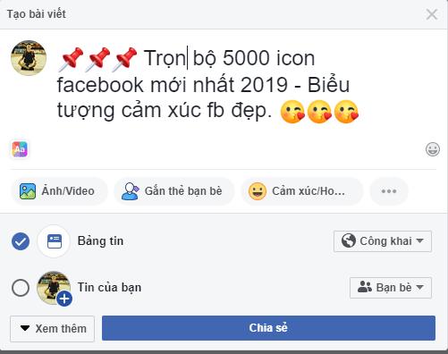 icon facebook - Trọn bộ 5000 icon facebook mới nhất 2019 - Biểu tượng cảm xúc fb đẹp