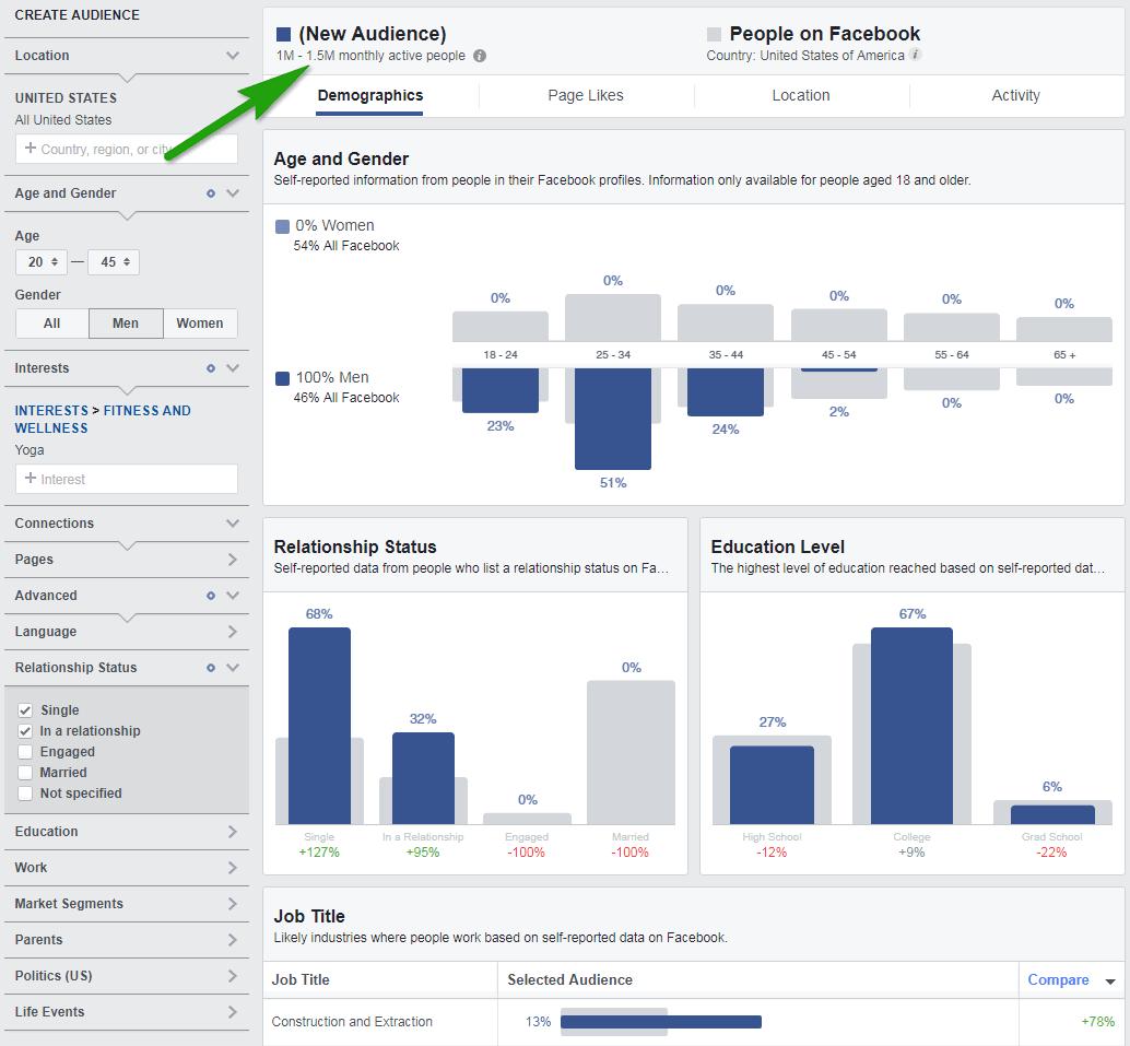 huong dan audience insight 4 - Facebook Audience Insights là gì ? Cách sử dụng để phân tích đối tượng khách hàng