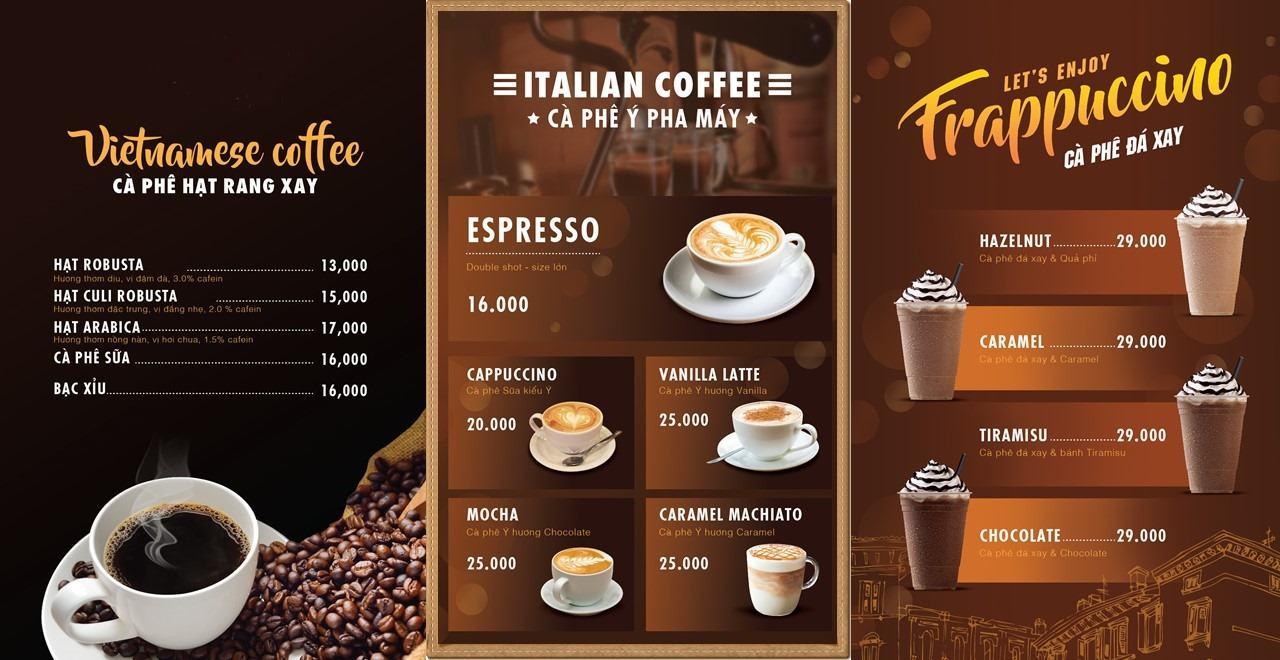 menu cafe dep 1 - 10 ĐIỀU CẦN LƯU Ý KHI MỞ QUÁN KINH DOANH  CÀ PHÊ