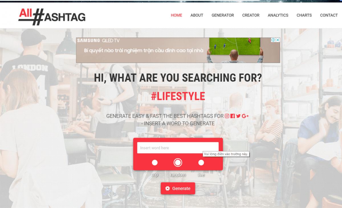 1 45 - Chia sẽ công cụ MIỄN PHÍ tìm kiếm TOP các HASHTAG nhiều like và tương tác trên Instagram