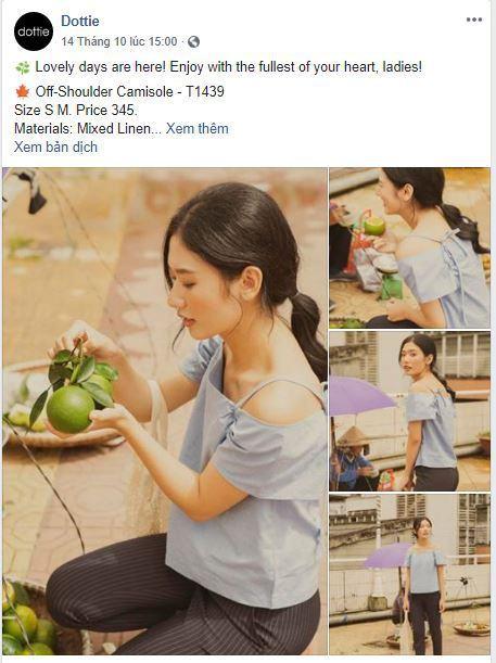 d14 phan tich kinh doanh fanpage Dottie - Phân tích shop thời trang online Dottie trên Fanpage Facebook