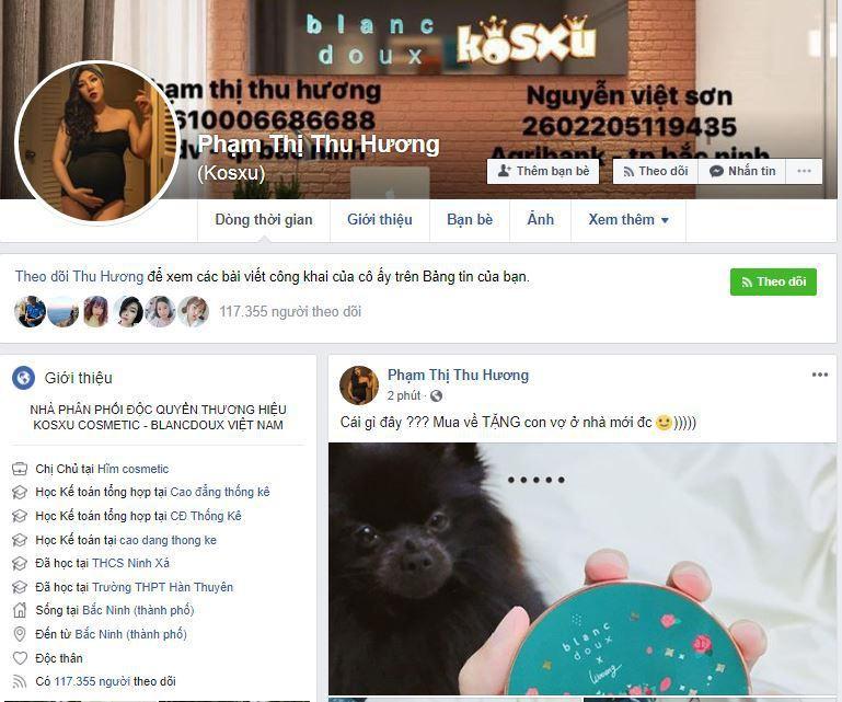 g1 me bim suai ban hang online - Cách bán mỹ phẩm trên Facebook của mẹ bĩm sữa Phạm Thị Thu Hương