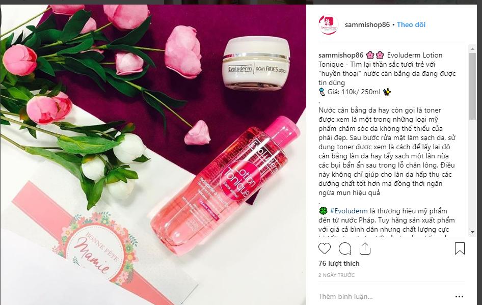 hình ảnh instagram - Kinh nghiệm kinh doanh mỹ phẩm- Bài học kinh doanh từ đối thủ lớn