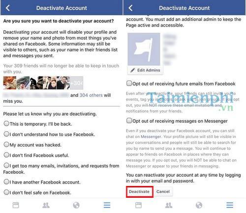 xoa tai khoan facebok tren dien thoai 12 - Hướng dẫn cách xóa tài khoản Facebook tạm thời và vĩnh viễn trên điện thoại & máy tính