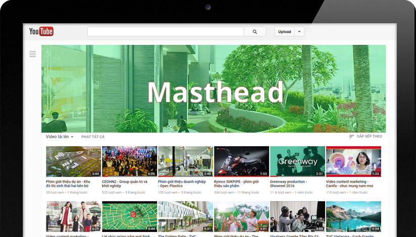 yt masthead2 - Hướng dẫn chạy quảng cáo youtube hiệu quả