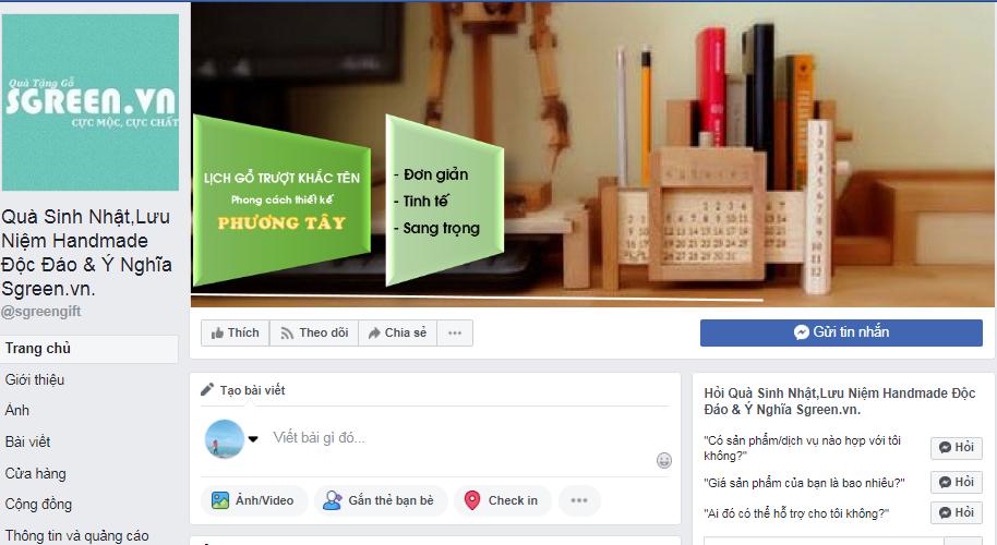 Fanpgae bán hàng - Kinh doanh lĩnh vực quà tặng lưu niệm – Kinh nghiệm kinh doanh Online