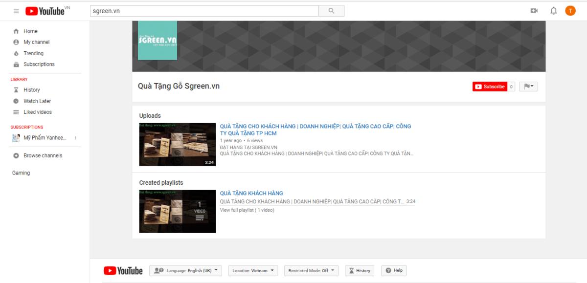 Youtube 1 - Kinh doanh lĩnh vực quà tặng lưu niệm – Kinh nghiệm kinh doanh Online