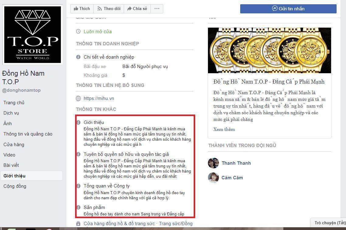 a12 kinh doanh dong ho - Tìm hiểu và chia sẽ tất tần tật kinh nghiệm về kinh doanh đồng hồ online của các Shop nổi tiếng trên Facebook (phần 1)