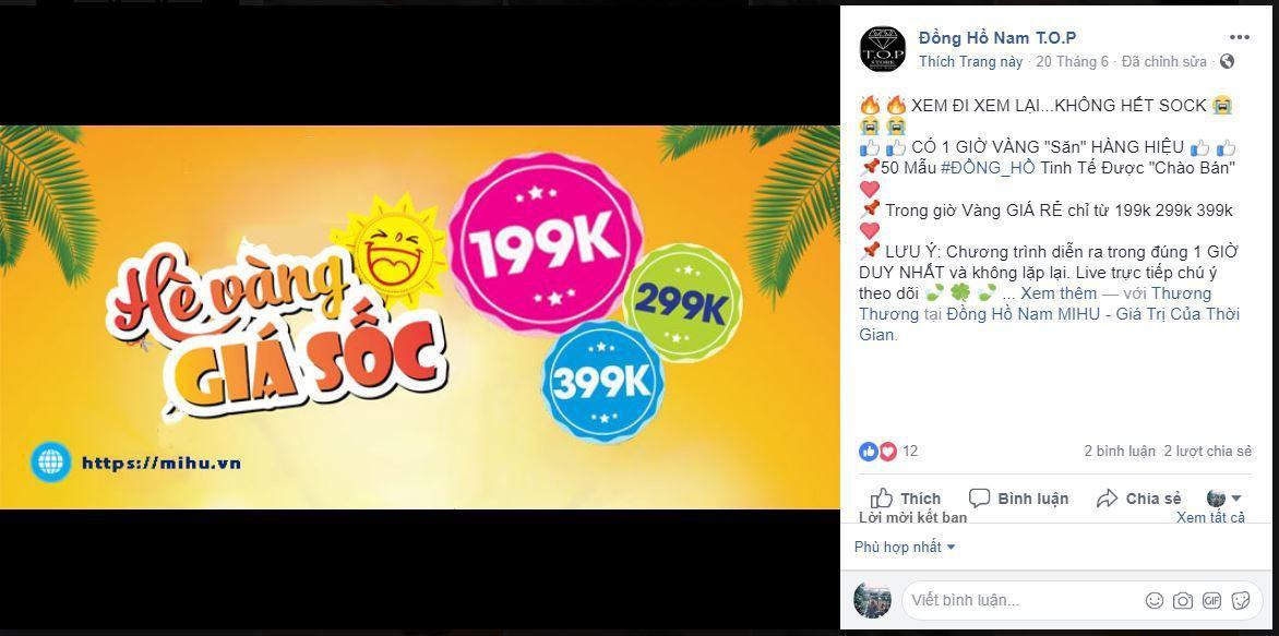 a19 kinh doanh dong ho - Tìm hiểu và chia sẽ tất tần tật kinh nghiệm về kinh doanh đồng hồ online của các Shop nổi tiếng trên Facebook (phần 1)