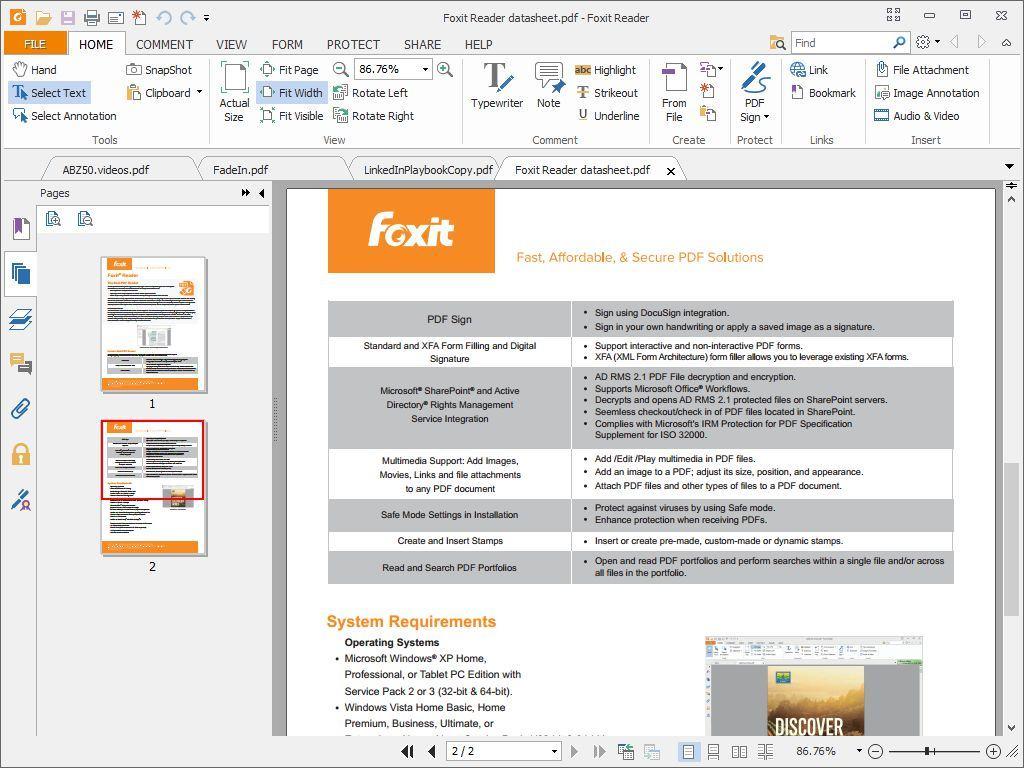 a2 review phan mem foxit reader - Phần mềm đọc file , tài liệu PDF siêu tốc - Foxit Reader