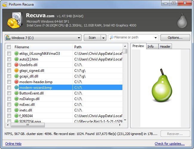 """a3 review phan mem khoi phuc du lieu recuva - Phần mềm cứu và khôi phục dữ liệu trên laptop miễn phí - """"Thuật sĩ"""" Recuva"""