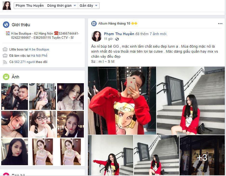 c1 huyen be ban hang online - Tìm hiểu cách bán hàng thời trang trên Facebook cá nhân của Hot Girl Huyền Bé