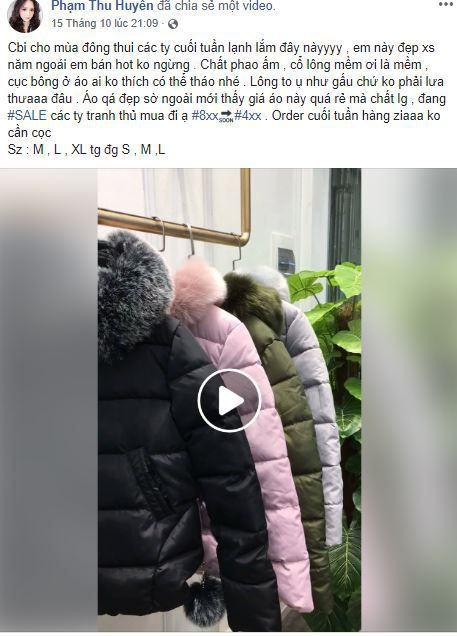 c4 huyen be ban hang online - Tìm hiểu cách bán hàng thời trang trên Facebook cá nhân của Hot Girl Huyền Bé