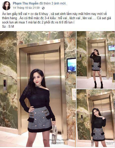 c5 huyen be ban hang online - Tìm hiểu cách bán hàng thời trang trên Facebook cá nhân của Hot Girl Huyền Bé