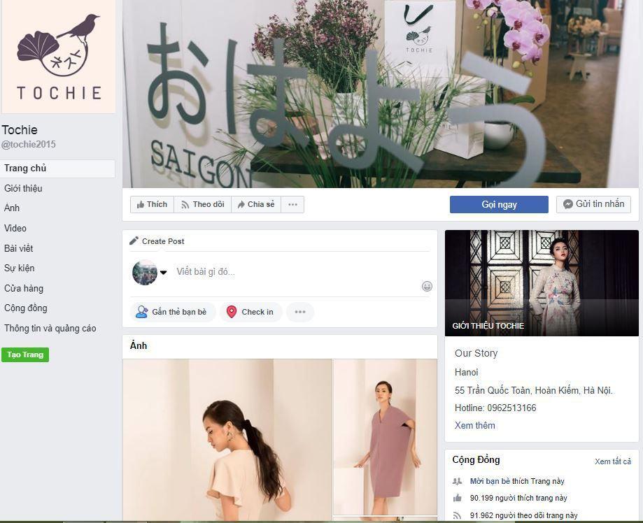 e1 phan tich kinh doanh fanpage Tochie - Phân tích shop thời trang online Tochietrên Fanpage Facebook
