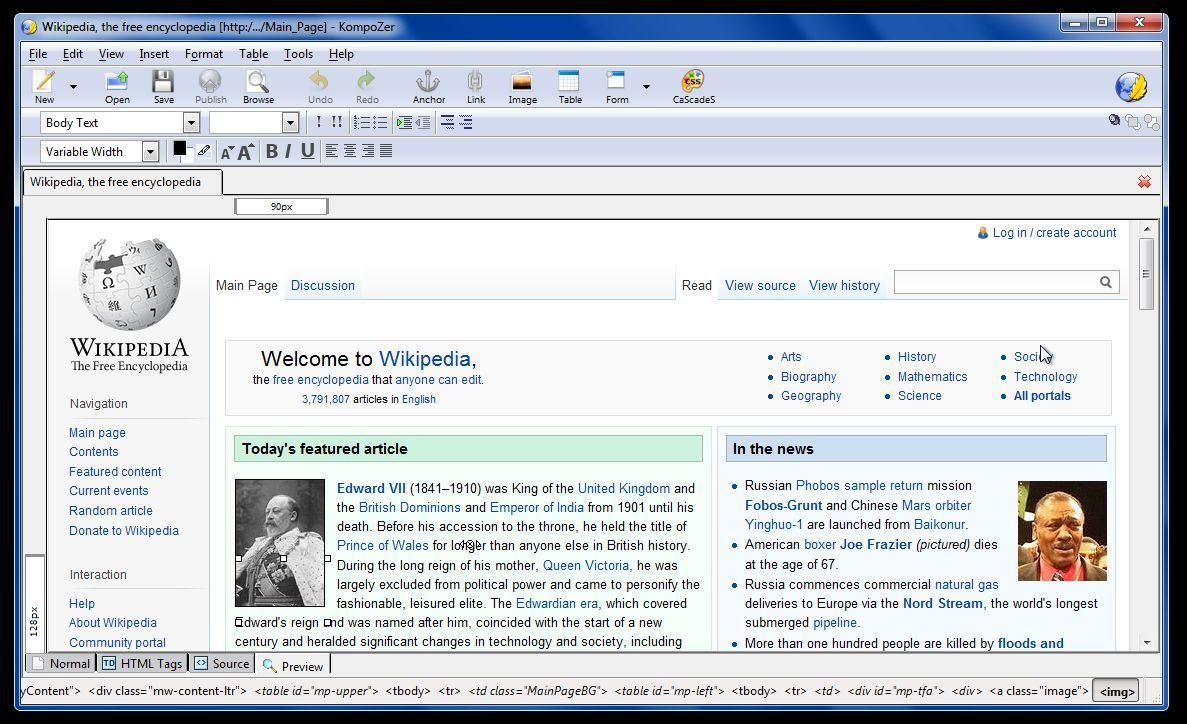 a2 review phan mem kompozer - KompoZer - Phần mềm thiết kế và quản lý nội dung website miễn phí được yêu thích nhất hiện nay