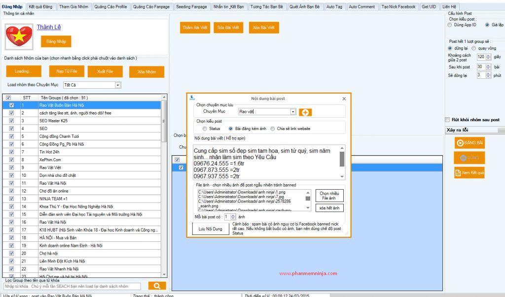 a3 review phan mem facebook ninja - Phần mềm hỗ trợ quảng cáo bán hàng trên Facebook - Facebook Ninja